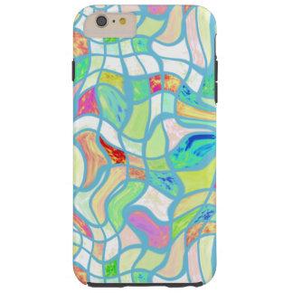 Motif tordu déformé coloré génial de carrés coque tough iPhone 6 plus