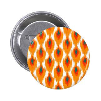 Motif tribal abstrait orange de diamant de Teal Pin's Avec Agrafe