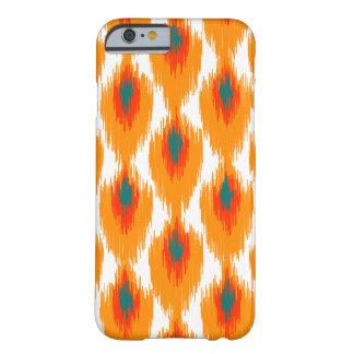 Motif tribal abstrait orange de diamant de Teal Coque iPhone 6 Barely There