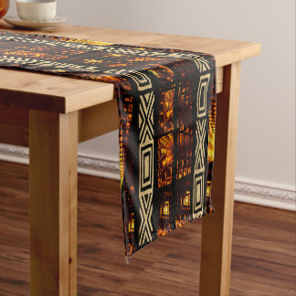 Motif tribal africain de tapisserie chemin de table court