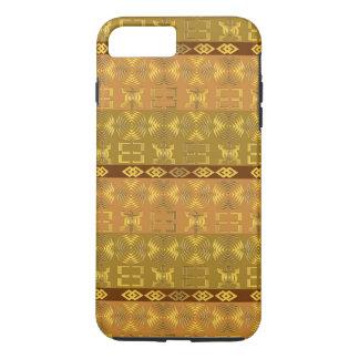 motif tribal africain ethnique avec des simbols coque iPhone 8 plus/7 plus