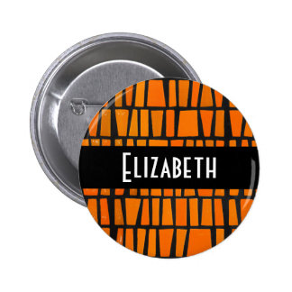 Motif tribal africain personnalisé badge rond 5 cm