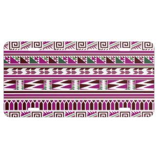 Motif tribal aztèque moderne géométrique pourpre
