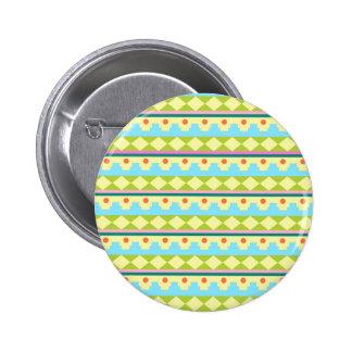Motif tribal coloré pin's avec agrafe