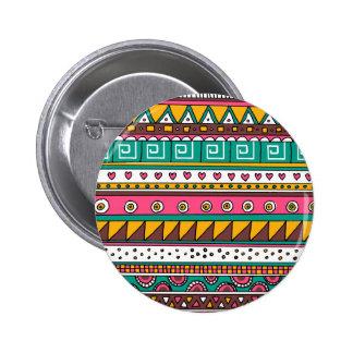 Motif tribal coloré badges