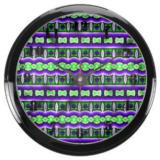 Motif tribal coloré décoratif horloges marines