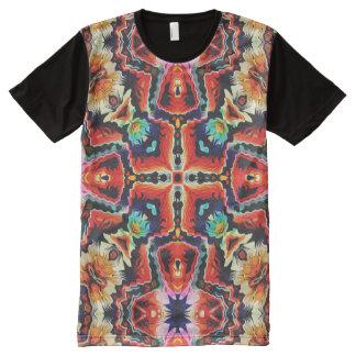 Motif tribal coloré t-shirt tout imprimé