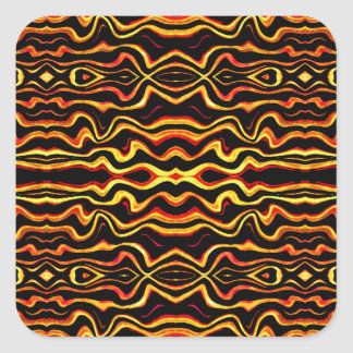 Motif tribal d'abrégé sur art sticker carré