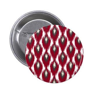 Motif tribal de diamant d Ikat d abrégé sur gris Pin's