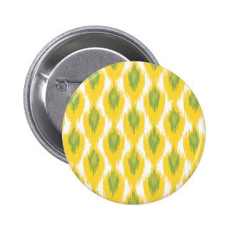 Motif tribal de diamant d Ikat d abrégé sur vert Badge Avec Épingle