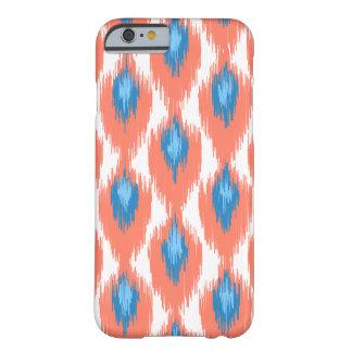 Motif tribal de diamant d'Ikat d'abrégé sur rose Coque iPhone 6 Barely There