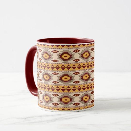 Motif tribal de Navajo du sud-ouest Mugs