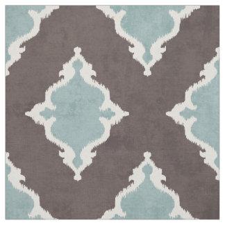 motif tribal de turquoise d'ikat brun élégant de tissu