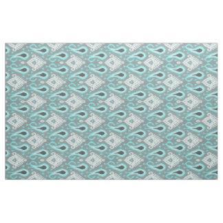Motif tribal d'Ikat de turquoise à la mode assez Tissu