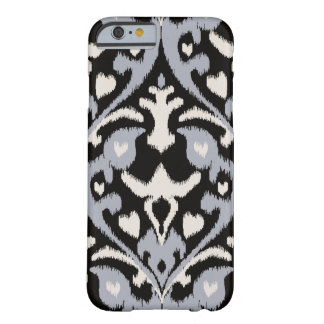 Motif tribal d'ikat noir gris audacieux moderne coque iPhone 6 barely there