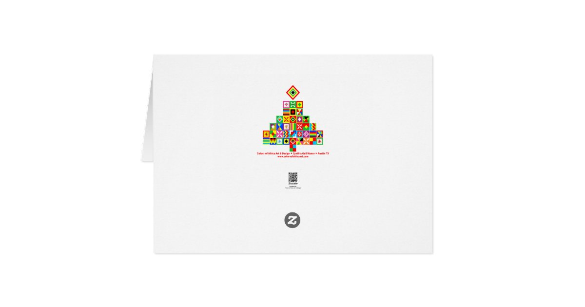 Motif tribal d 39 impression de conception de tissu carte de Impression carte de voeux