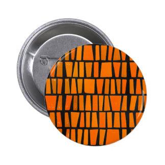 Motif tribal d'orange et d'africain noir badge rond 5 cm