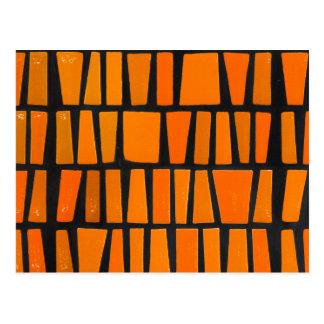Motif tribal d'orange et d'africain noir carte postale