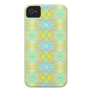 Motif tribal en pastel bleu de jolie chaux de coques Case-Mate iPhone 4