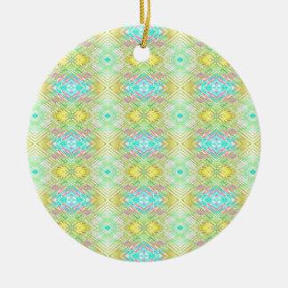 Motif tribal en pastel bleu de jolie chaux de ornement rond en céramique