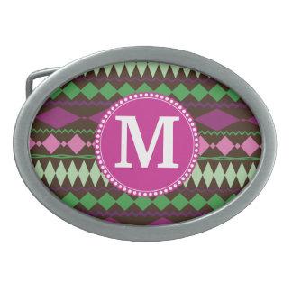 Motif tribal fait sur commande personnalisé de mon boucle de ceinture ovale