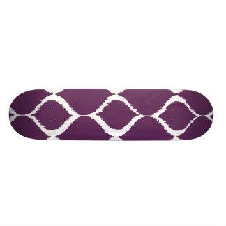 Motif tribal géométrique pourpre d impression plateaux de skateboards customisés
