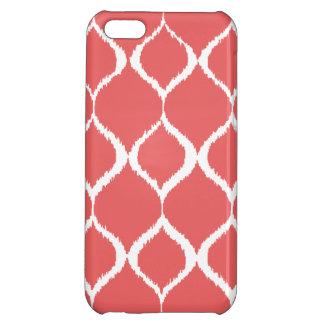 Motif tribal géométrique rose de corail coques pour iPhone 5C