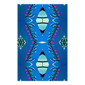 """Motif tribal magenta turquoise bleu de """"Venise"""" Motifs Pour Papier À Lettre"""