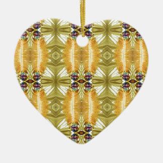 Motif tribal modifié la tonalité par terre de vert ornement cœur en céramique