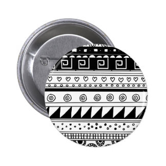 Motif tribal noir et blanc badges