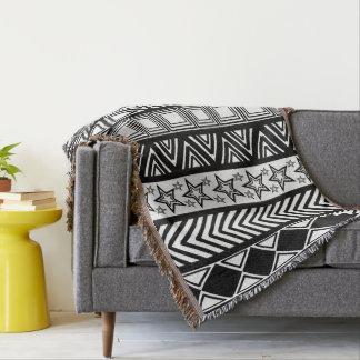couvertures motif tribal. Black Bedroom Furniture Sets. Home Design Ideas