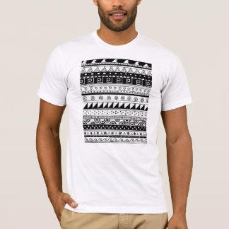 Motif tribal noir et blanc t-shirt