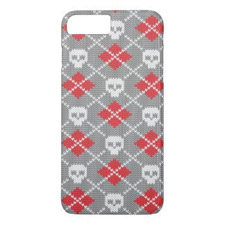 Motif tricoté avec des crânes coque iPhone 7 plus