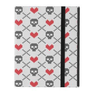 Motif tricoté avec des crânes coques iPad