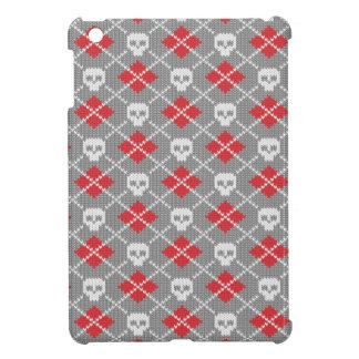 Motif tricoté avec des crânes étui iPad mini