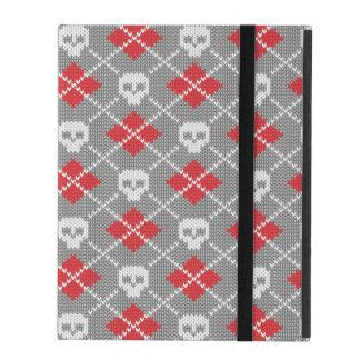 Motif tricoté avec des crânes étuis iPad