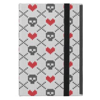 Motif tricoté avec des crânes étuis iPad mini