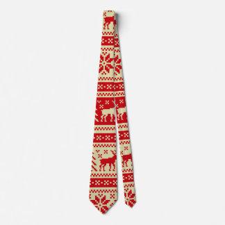 Motif tricoté par Noël de renne Cravate
