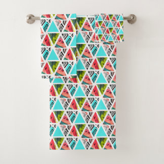 Motif tropical abstrait coloré