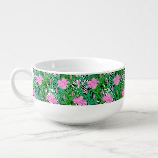 Motif tropical avec des fleurs de jungle bol à soupe