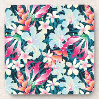 Motif tropical coloré sous-bocks