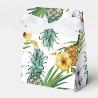 Motif tropical d'ananas d'aquarelle de thème ballotins