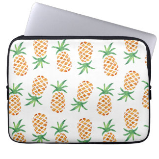 Motif tropical d'ananas housse ordinateur portable