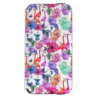 Motif tropical d'aquarelle coque-portefeuille iPhone 6 incipio watson™