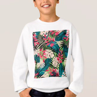 Motif tropical de feuille sweatshirt