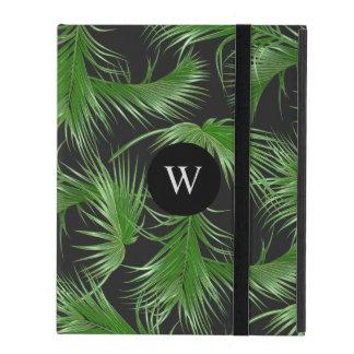 Motif tropical de frondes de paume avec le étui iPad
