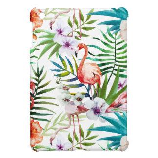 Motif tropical de jardin de nature de flamant coques iPad mini