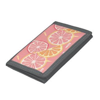 Motif tropical de pamplemousse rose et de citron