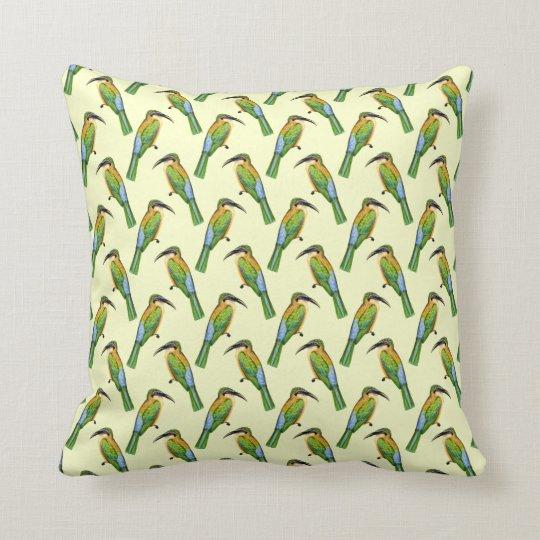 Motif tropical d'oiseau d'Abeille-mangeur somalien Coussin