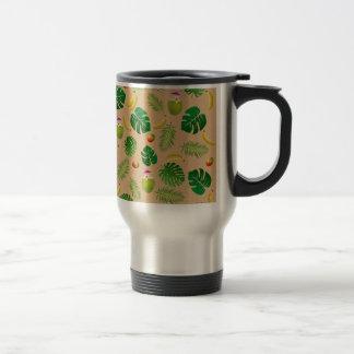 Motif tropical mug de voyage